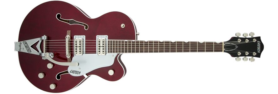 Gretsch G6119T Players Edition Tennessee Rose with String-Thru Bigsby Filter Tron Dark Cherry Stain SN: JT15113374