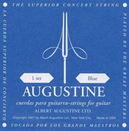 Augustine 4th D Einzelsaite Nylon Blau