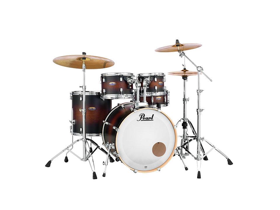 Pearl Decade DMP905P/C-260 Maple Drumset Satin Brown Burst inkl. HW
