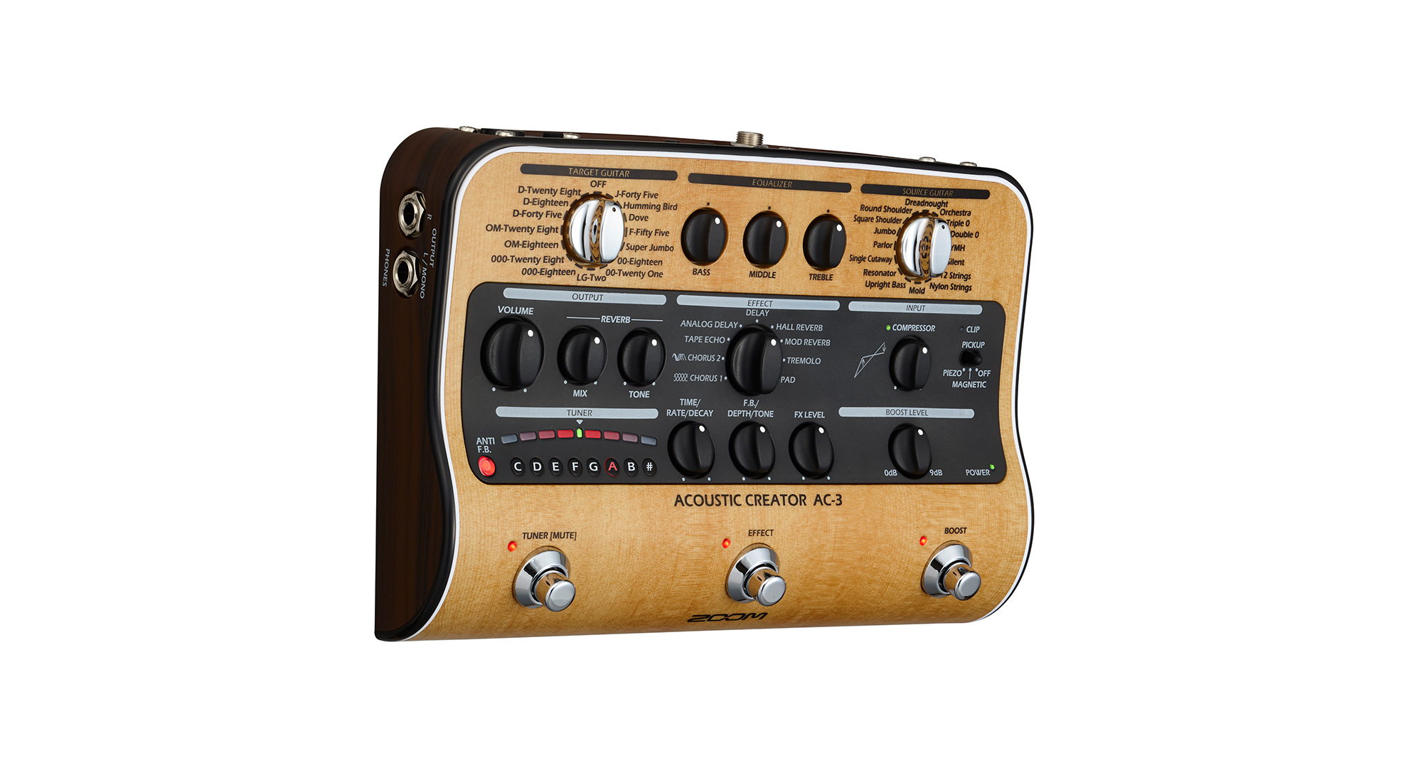 Zoom AC-3 Effektpedal f�r Akustikgitarre