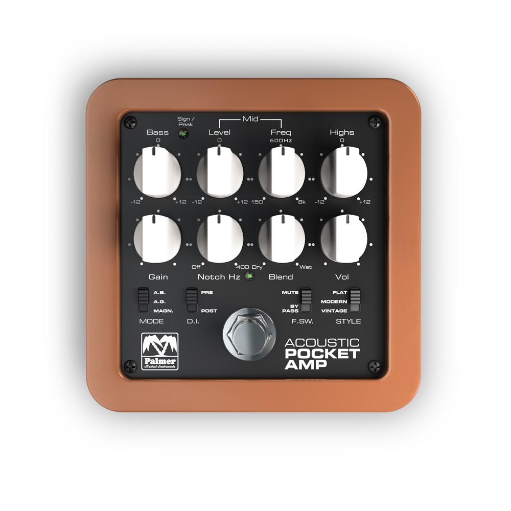 Palmer MI POCKET AMP ACOUSTIC Portabler Preamp für Akustische Saiteninstrumente