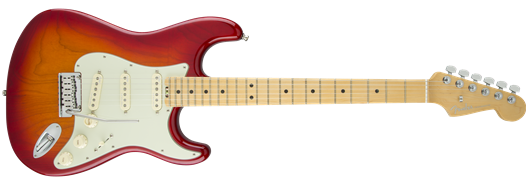 American Elite Stratocaster Maple Fingerboard Aged Cherry Burst (Ash)