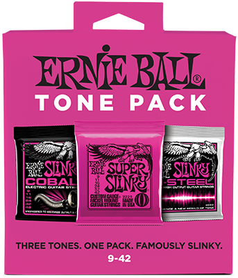 Ernie Ball EB3333 Saitensatz, 3er Tone Pack, Slinky/Slinky Cobalt/Slinky M-Steel, 09-42