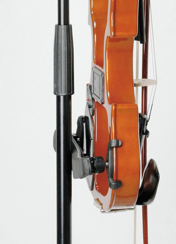 K&M 15580 Violinenhalter - schwarz