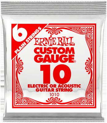 Ernie Ball Einzelsaite, Plain Slinky .010, 6 Stück