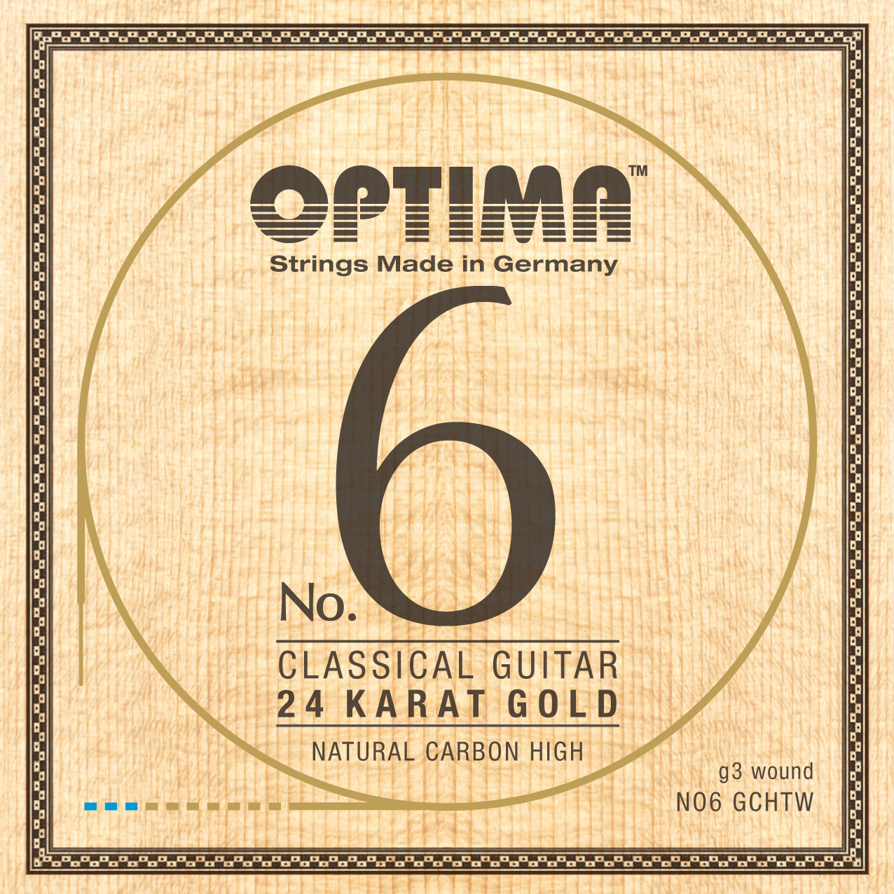 Optima No.6 Konzertgitarre 24K GOLD High Carbon wound g3