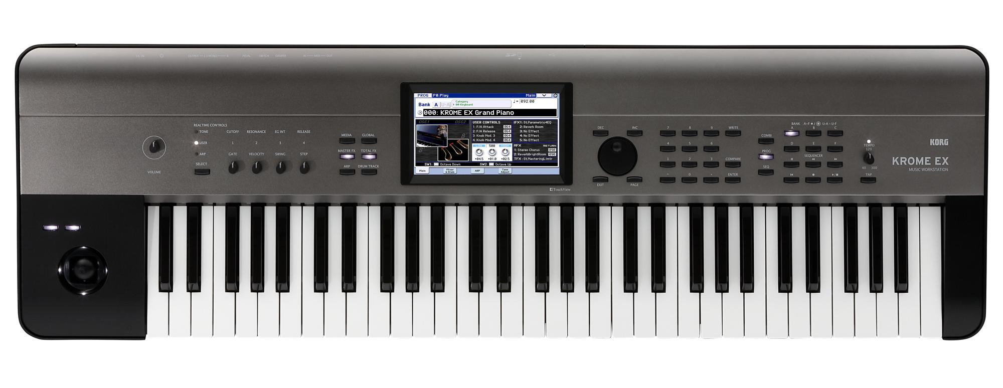 Korg Krome EX 61 Music Workstation Grau Metallic