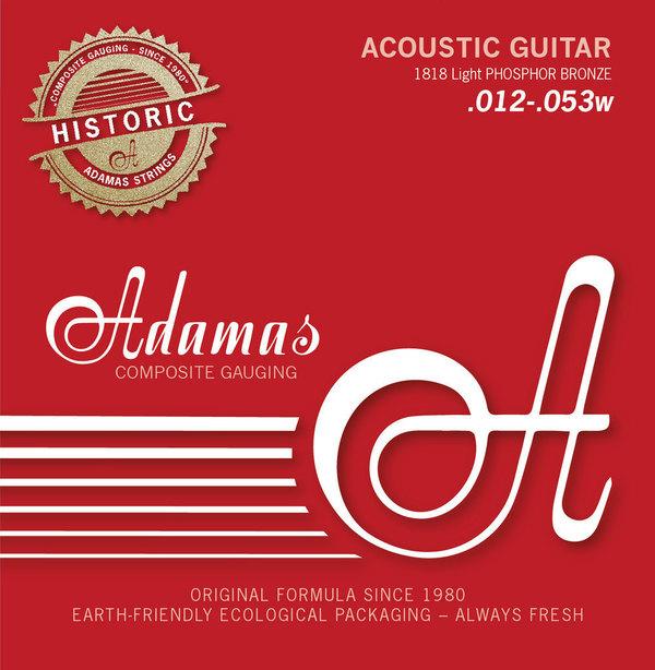 Adamas 1818 Light Akustik-Gitarren Saiten Historic Reissue Phosphor Bronze