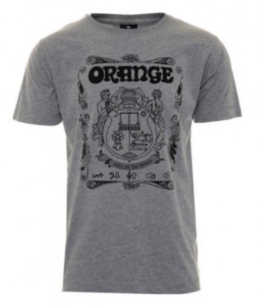 Orange T-Shirt Crest GREY Large