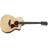 Taylor 214ce-CF Deluxe, 200 Series Deluxe, Layered Copafera, Sitka Spruce Top, Grand Auditorium, Cutaway,ES2